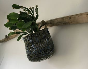 Recycled Plant Holder / Plant Hanger / Plant bag