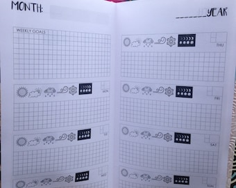 Weekly Hobonichi Style (WO2P) Traveler's Notebook Insert - Choose Your Size