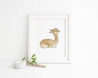 Llama Nursery Wall Art - Llama Art Print - Illustrated Llama Artwork for Your Llama Nursery Decor, Playroom Art and Playroom Decor