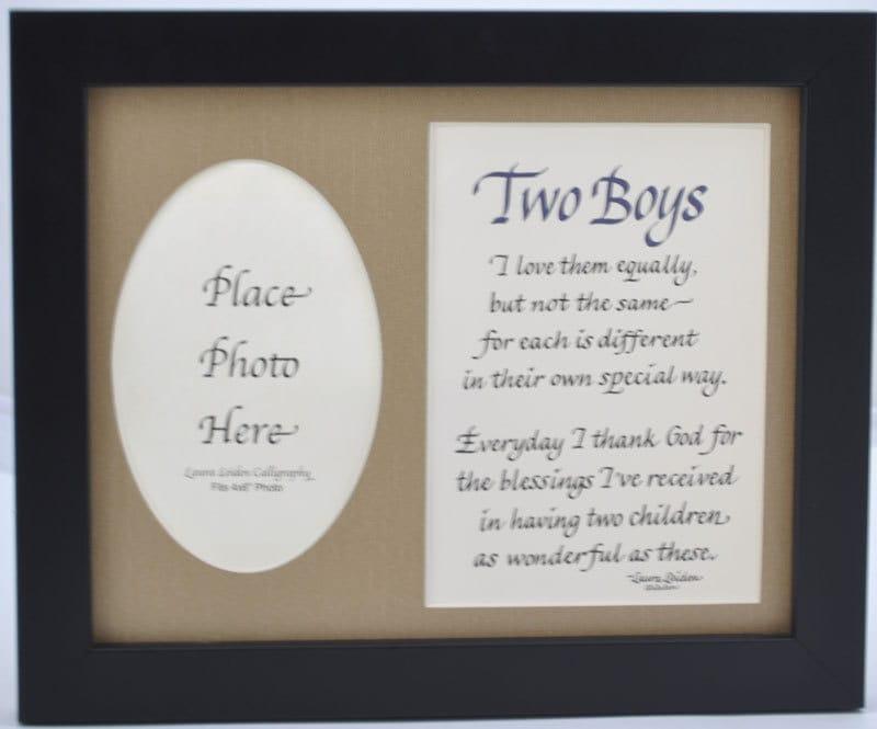 Dos muchachos poema 2 de chicos y marco de 8 x 10 regalo de