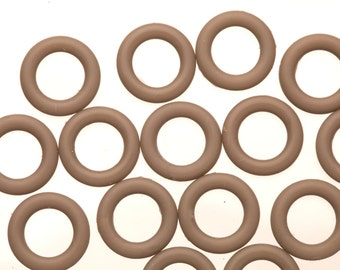 25Pcs clade O-Ring for Flat Licorice Leather 8x2mm