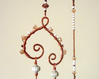 Bohemian Sun Catcher Hanging Glass Beaded Mobile