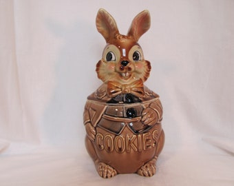 Lapin lapin Cookie Jar / céramique lapin Cookie Jar fait par Royal Sealy