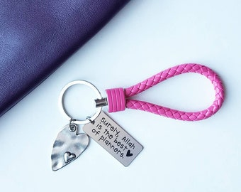 Keychain ~ Allah is the best of planners in pink