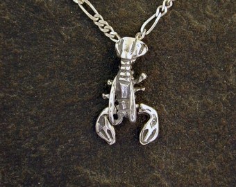 Sterling Silver Lobster Pendant on a Sterling Silver Chain