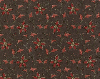 Richmond Reds - Springfield in Copperplate Brown by Barbara Brackman for Moda Fabrics