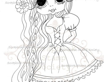 INSTANT DOWNLOAD Digital Digi Stamps Big Eye Big Head Dolls Messy Bessy IMG799 My Besties By Sherri Baldy