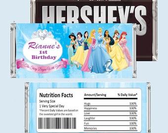Disney Princess Candy Bar Wrapper, Hershey Bar Wrappers PRINTABLE