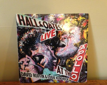 """Hall and Oates """"Live at the Apollo"""" vinyl record"""