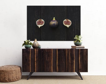 fig v. two // food photography print // kitchen decor // dining room // canvas art // canvas print // rustic farmhouse wall art