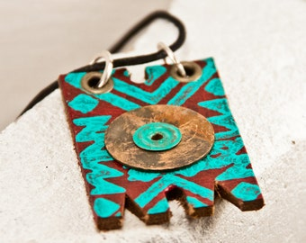 Turquoise Gypsy Jewelry, Turquoise Bohemian Necklace, Turquoise Tribal Native Jewellery
