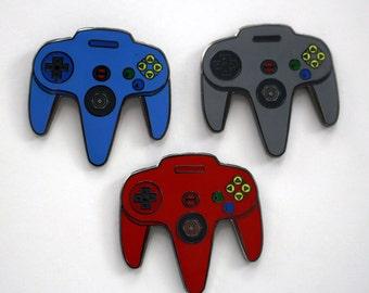 Nintendo Controller Pin - N64 Controller - Nintendo Enamel Pin Set