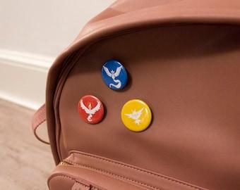 Pokemon Go Team Badges: Valor, Mystic, Instinct