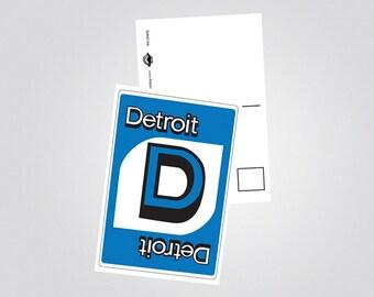 Detroit Uno Postcard