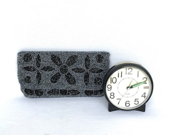Vintage BLACK EVENING CLUTCH Purse