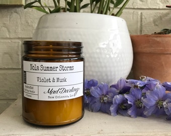 Nola Summer Storms - Violet & Musk Soy Candle