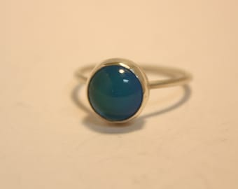 Mood Stone Ring Sterling Silver Small