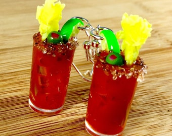 Bloody Mary miniature food jewelry