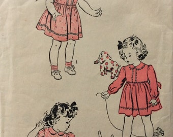 Advance 3215 girls dress and panties size 2 vintage 1940's sewing pattern