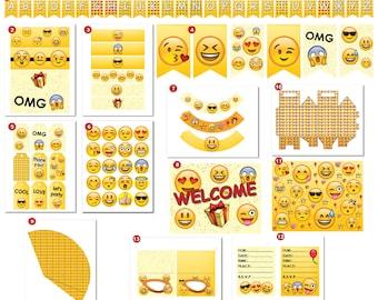 DIY Emoji Printable Party Pack