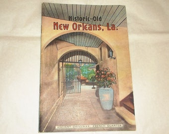 Vintage Historic -Old NEW ORLEANS, LA Booklet • Louisiana