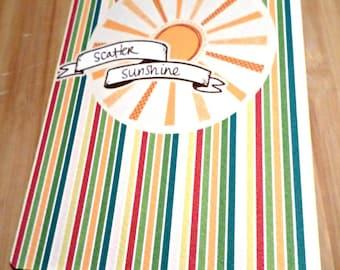 Double-sided - Scatter Sunshine - original vintage greeting card