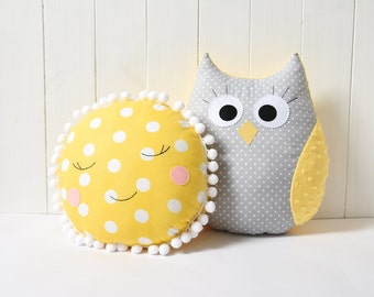 Owl Pillow Owl Cushion Owl Toy Christmas Gift Nursery Decor Nursery Decoration Plush Pillow Toy