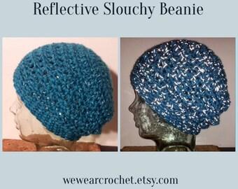 Slouchy Sporty Beanie Reflective