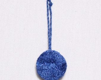 6 20mm, 30mm or 40mm, rayon tassels, blue royal (9675)