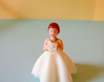 Wedding Bride Miniature Bridesmaid Vintage Doll Formal Dress by VintageStudioSupply