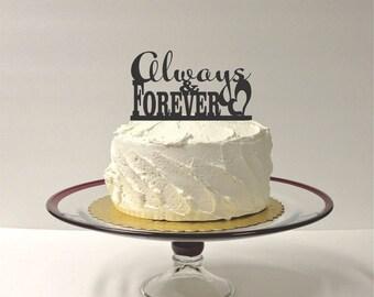 MADE In USA, Always & Forever Wedding Cake Topper Acrylic Wedding Topper Classic Wedding Cake Topper Wedding Decoration Keepsake