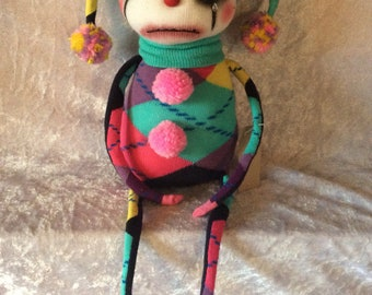 Clown sock doll