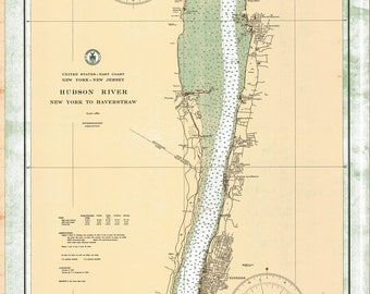 Historical NOAA chart of the Hudson River 1933