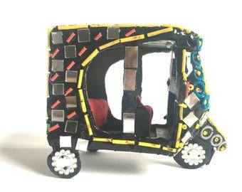 Three wheels Traditional Auto Ricksha or Rickshaw, Tuk Tuk,