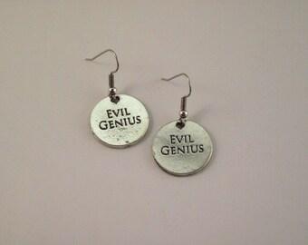 Gorgeous Geekery Evil Genius Earrings - Biology, Chemistry, Science, Laboratory