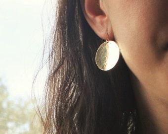 Alexa - Large Gold Coin Earrings