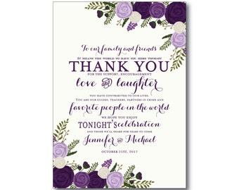 Vintage Wedding Thank You Card - Fall Wedding - Vintage Floral - Floral Wedding - Vintage Wedding - Wedding Thanks, Wedding Thank You #CL252