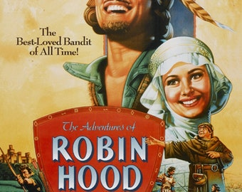 The adventures of Robin Hood 1938 Errol Flynn movie poster reprint 19x12.5 inches #2