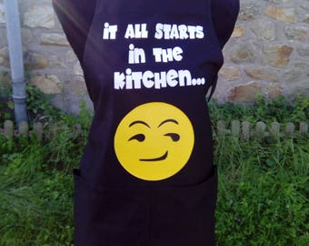 "Apron ""It all stars on the kitchen ..."""