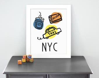 NYC - Illustrated Print