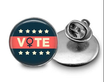 Vote Pin/ Lapel Pin/ Get Out The Vote/ Rock the Vote/ Political Pin/ Protest Pin/ Feminist Pin/ Democratic Pin/ Activist Pin