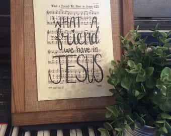 What a Friend We have in Jesus | Hand Painted Sign | hymn