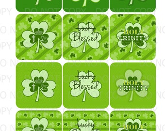 Printable DIY Christian Religious St. Patrick's Day Cupcake Toppers