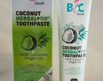 Coconut oil toothpaste, Oil Pulling Concept,Remove Bad Breath&Stain,Pro-white, Gum Health