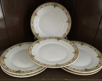 6 THEODORE HAVILAND LIMOGES, Made in France,  Vintage Bread & Butter/Dessert  Plates