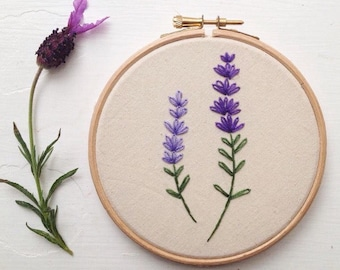 Lavender embroidery hoop art