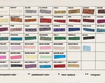 glitter sample card