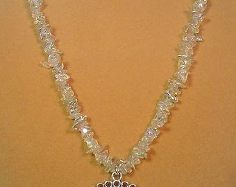 "24"" of Sparkling, shimmering iridescent necklace - N251"