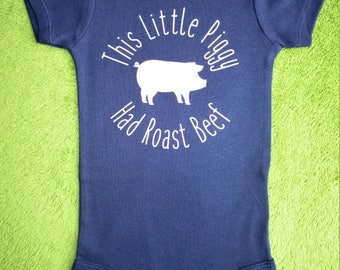 This Little Piggy Had Roast Beef Baby Onesie, Funny Baby Onesie, Baby Shower Gift