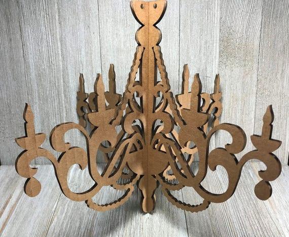 Laser cut cardboard chandelier 2 10 aloadofball Gallery